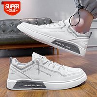 Small white shoes men's spring and autumn casual low-top lace-up board in stock #jn0S