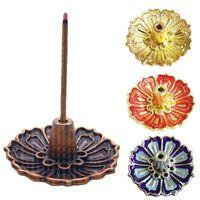 Retro Incense Burner Coil Holder Plate Lotus Rack Ash Catcher Sandalwood Sticks For Home Decor Multifunction Fragrance Lamps
