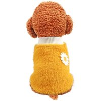 Dog Apparel Multi Colors Pet Clothes With Small Flower Designer Clothing Size Selling Models Two Feet Coats For Autumn