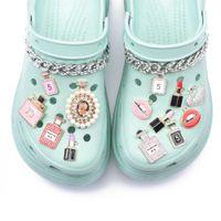 1 PC 금속 매력 디자이너 향수 Jibz Croc 액세서리 Clog 립스틱 신발 단추 장식 매력 신발 Q0618