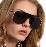 Diseñador de alta gama y gafas de sol para mujer y gafas de sol de verano con gafas de sol de metal medio marco estilo retro de estilo retro UV400 Protección
