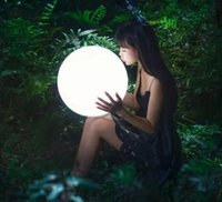 Novelty Lighting LED 16 colors Inflatable solar atmosphere glow globe lamp 16inch sphere floating pool Swimming big ball light IP67 with Remote Control