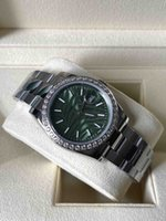 2021 Datejust olive vert montres automatiques cadran diamant 126200 hommes et femmes modèle de trou bleu 126234 Cadeau mécanique 36mm