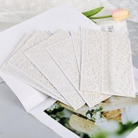 2020 10 قطعة / المجموعة العمودية قطع الليزر قطع بطاقات مجموعات لحفل الزفاف الزفاف دش هدية عيد الميلاد بطاقة المعايدة