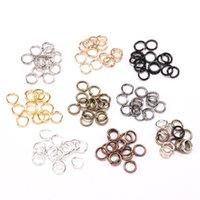 50 unids / bolsa 3 4 5 6 8 10 12 14 18 mm anillos de salto Conector de color dorado de anillo dividido para joyería de bricolaje haciendo accesorios de búsqueda 1567 Q2