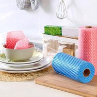 Cleaning Cloths 50pcs Roll Home Towels Washing Disposable Cloth Kitchen Dish Portable Non Wovens Wipes