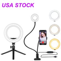 4-inch Ring Light Stand, Big Adjustable 3200-5500K LED RingLights with Ultra-wide Lighting Area for Camera Photography, YouTube Videos, Makeup