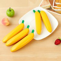 1Pcs Banana Shaped Ballpoint Pen 1mm Kawaii Black Ink Ball PointPen For Kids Stationery Writing Tools Student Wholesale