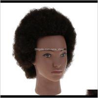 Teste cosmetologia afro manichino testa w / yak capelli per intrecciare la pratica di taglio qyhxo dtpyn