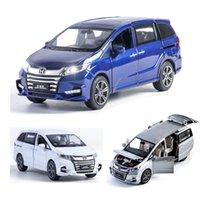 132 هوندا odyssey نموذج سيارة سبيكة سيارة يموت يلقي لعبة سيارة نموذج التراجع الأطفال لعبة هدية تحصيل
