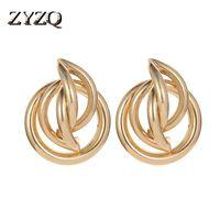 Elegantes accesorios para mujer Pendientes de moda Joyería geométrica irregular Color oro Plateado Plata Lotes al por mayor