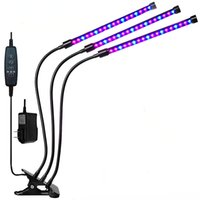 2021 LED Grow Light Full Spectrum Plant Lamp With Clip Dual Three Head Greenhouse Growing Flower Plant Lamp Dimmable Led Aquarium Lighting