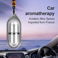 Interior Decorations Car Hanging Air Freshener Pendant Empty Bottle For Essential Oils Diffuser Fragrance Ornaments Accessories