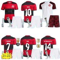 Erwachsene Männer Kinder 21 22 Cr Flamengo Fussball Jersey Kit 2021 2022 Flämisch Guerrero Diego Vinicius JR Jerseys Gabi Gabriel B Fußball Hemd Uniform