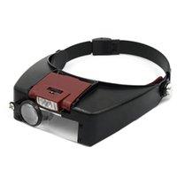 Os capacetes da motocicleta do microscópio do microscópio dos vidros da lupa conduziram a leitura da luz ou do reparo
