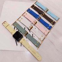 Top Designer Strap Geart Guardandaglio per Apple Watch Band 42mm 38mm 40mm 44mm Iwatch 1 2 3 4 5 6 7 Bandi cinturini in pelle Bracciale Bracciale Bracciale Bracciale Stampa con cerniera a braccia con cinturino