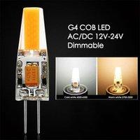 Ampuller Dim Mini G4 LED COB Lamba 6 W Ampul AC / DC 12 V Mum Silikon Işıkları Avize Spot Için 30 W 40 W Halojen Değiştirin