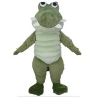 Professional Green Crocodile Mascot Costume Halloween Christmas Fancy Party Dress Animal Cartoon Character Suit Carnival Unisex Adults Outfit