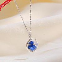 Korean fashion personality creative globe Necklace female clavicle chain small fresh sweet planet Pendant Jewelry l1356