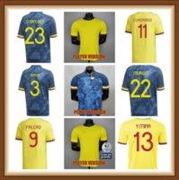 Oyuncu Sürümü 2021 2022 Kolombiya Futbol Formaları 21 22 Kolombiya Erkekler Camiseta de Futbol James Falcao Cuadrad Valderrama Futbol Shirts265489