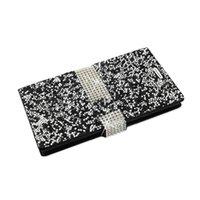 REIKO LG V10 다이아몬드 라인 석 지갑 케이스 레드 / 블랙 / 골드 / 실버 / 핑크 / 퍼플 / 블루