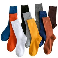 Men's Socks 2021 Casual Men Brand Business Party Dress Cotton Man High Quality Black White For Gift