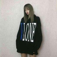 CHAO BRAND SHANGHAI LIMITED COM урон синий большой V свободный плюшевый толстовка пуловер мужской и женский свитер