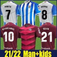 Real Sociedad Oyarzabal Soccer Jerseys Ødegaard Merino Isak Camisas de futebol Barrenetxea Silva Portu Portu Zubimendi Zubeldia Camiseta de Futbol Man Kit 21/22