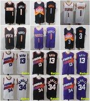 Devin 1 Booker Steve 13 Nash Chris 3 Paul 34 Barkley Jersey NCAA 2021 الرجعية كرة السلة الفانيلة مخيط حجم S-XXXL