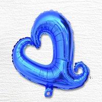 """Festes de festa de 18 polegadas de alumínio alumínio balões de alumínio 18 """"coração forma de coração oco amor pêssego para decoração de casamento OWE5851"""