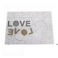 A4 Sublimation Leeres Puzzle Gunst Kreative Liebe 47 Stück MDF Wärmeübertragung Puzzle Spielzeug DIY Valentinstag Geschenk DHB7425
