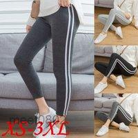 women Pants Joggers casual trousers Classic Elastic Waist Fashion Sweatpants Stripes Panalled Pencil Jogger Asian size XS-3XL