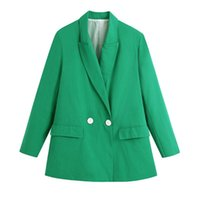 Women's Jackets 2021 The European And American Wind Dress Two Grain Of A Double-breasted Suit Coat 1547