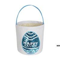 Panier Pâques Patch Patch Pâques Sac-cadeau de Pâques Ronde Bas Pâques Panier de stockage pour les œufs de Pâques pour enfants Fourniture HWWE6883