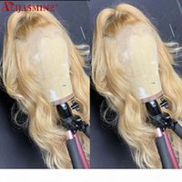 613 Blonde Lace Front Wig Human Hair Wigs For Women 13x6 HD Transparent Lace Wig Remy Body Wave Blonde 4X4 Closure