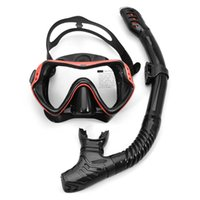 Máscaras de mergulho Máscara de snorkel profissional e snorkels anti-nevoeiro óculos de óculos nadando de tubo de respiração fácil conjunto adultos