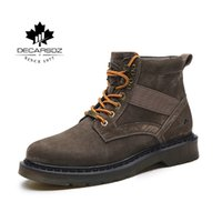 DECARSDZ 2021 Mens Boots Casual boots For Men 100% Genuine leather Comfy Men's Boots Fashion Male Shoes