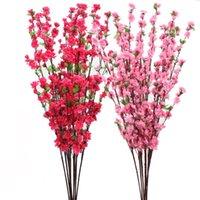 인공 복숭아 꽃다발 꽃다발 홈 장식 액세서리 가짜 지점 매실 꽃꽂이 결혼식 휴일 용품 장식 흐름