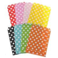 Gift Wrap 25 Pcs Pack Polka Dot Pattern Paper Bag Candy Cookies Cupcake Kids Birthday Party Supplies Wedding Favor