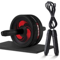 YENI 2 1 AB Rollerjump Halat No Gürültü Karın Tekerlek Ab Kol ile Mat Bacak Bacak Egzersiz Gym Fitness Ekipmanları