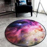 Carpets 3D Starry Sky Round Carpet Chair Mat Area Rug Foot Pad Children Bedroom Rugs Yoga Mats Doormat Big Galaxy Universe Planet