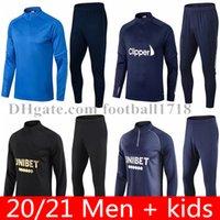 2021 Glasgow Rangers FC Futbol Eğitim Takım Survetement 20 21 Defoe Hagi Morelos Tavernier Rangers Erkekler Çocuklar Eşofman Chandal Jogging