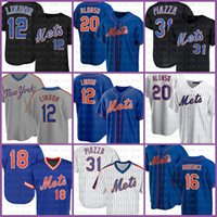 12 FRANCISCO LINDOR NUEVO CUSTOM YORK MET METBOLL JERSEY 20 PETE Alonso 18 Darryl Strawberry 31 Mike Piazza 16 Dwight Gooden 48 DegroM Red