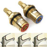 Kitchen Faucets 1 Pair Replacement Tap Cartridge Valves Basin Mixer Quarter Parts Turn BSP 1 2 Inch