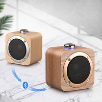 Q1B Altavoz portátil Bambú Nuez de bambú Grano Bluetooth 4.2 Altavoces de bajo inalámbrico Reproductor de música incorporado 1200mAh Batería