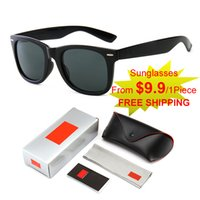 Lunettes de soleil de luxe de haute qualité originales classiques de mode Goggle UV400 Coffret cadeau Set de sport en plein air Cyclisme Vélo Plage de loisirs
