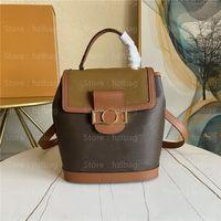 Dauphine 배낭 PM 모노 그램 캔버스 가방 실용적이고 유행 캐주얼 송아지 가죽 가죽 어깨 가방 M45142 디자이너 가방