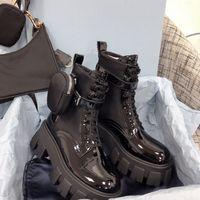 Top Quality Femmes Designers Roi Bottes Bottines Martin Boot Militaire Militaire Inspiré Bouch Nylon Bouch Sacs amovibles avec boîte