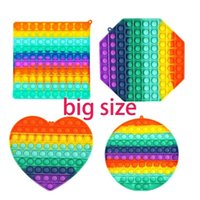 DHL 3- 7 delivery ! Large Size 20CM Big Pop it Rainbow Push B...