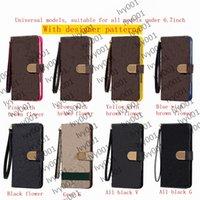 Top Fashion L Portfel Telefon Przypadki do iPhone 13 Pro Max 12 Mini 11 Pro Max XS XR X 8 7 Plus Flip Leather Case L Wykładowany Pokrywa telefonów komórkowych dla Samsung Wszystkie model Uwaga 10 20 Plus S21